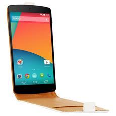 Custodia per Cellulare Nexus 5 Bianco Cuoio SCP10152W