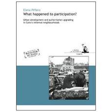 What happened to participation? Urban development and authoritarian upgrading in Cairo's informal neighbourhoods. Libera la ricerca