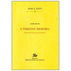 A perenne memoria. L'epigrafia italiana nell'Ottocento