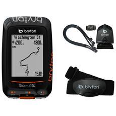 Ciclocomputer Rider 330t Gps Con Fascia Cardio Hrm E Sensore Cadenza Br330t