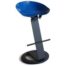 Sgabello Bar In Acciaio Colorato E Di Design H 72 Cm Blu
