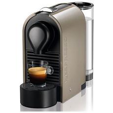 KRUPS - XN250A Serie U Macchina da Caffè Nespresso Manuale Serbatoio 0,7 Litri Colore Beige