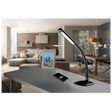 Lampada da Tavolo LED con Carica USB Colore Nero