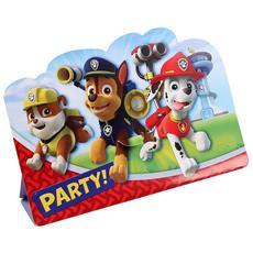 Paw Patrol - 8 Inviti Con Busta