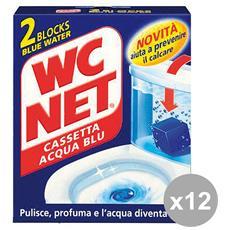 Set 12 Tavolette Wc Cassetta Acqua Blu X 2 Pezzi Detergenti Casa