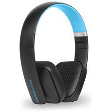 BT2, Stereofonico, Micro-USB, Padiglione auricolare, Nero, Ciano, Bluetooth, Sovraurale