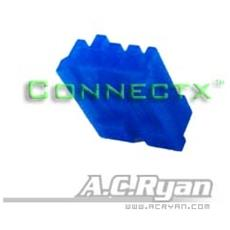 Connectx™ Floppy Power 4pin Female - Blue 100x, 4pin Female, Blu