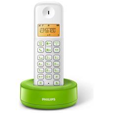 """D1301WA Telefono cordless con Display 1,6"""" Retroilluminazione - Bianco / Verde"""