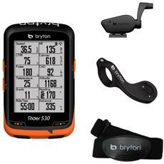 Ciclocomputer Rider 530t Gps Con Dual Sensor, Fascia Cardio E Supporto Frontale F Mount Br530t