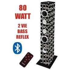 Torre Audio Con Usb, sd, aux E Bluetooth 80 Watt Cavallino