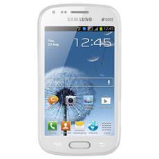 Case f / Galaxy S Duos Cover Trasparente, Bianco