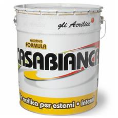 Idropittura Lavabile Acrilica Casabianca Laiv col. Bianco 14 Lt.