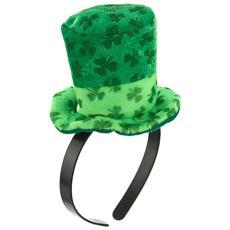 Cerchietto Con Mini Cappello Verde Con Trifogli Per Adulto Taglia Unica