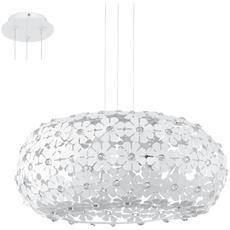 Eglo 92284 Hanifa Sospensione D. 45cm 2x60w E27 Bianco Alluminio / Plastica