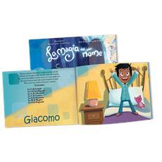 La Magia Del Mio Nome - Libro Personalizzato Per Bambini - Protagonista Bambino Moro Con Pelle Scura - Contattaci per Personalizzare