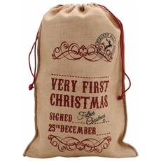 First Christmas Sacchetto Per Regali Di Natale (one Size) (marrone)