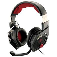 Shock 3D Cuffie Gaming 7.1 per PC USB - Nero / Rosso