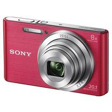 DSC-W830 Rosa Sensore CCD 20Mpx Zoom Ottico 8x Display 2.7'' Filmati in HD Stabilizzato