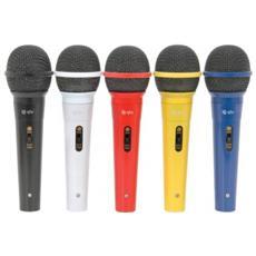 Set 5 Microfoni Cardioide Dinamici con Filo Multicolori art. 173.123