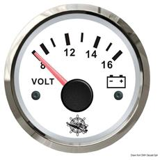 Voltmetro 8/16 V bianco / lucida