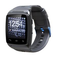 "Smartwatch Chronos Colour Display LCD 1.6"" Bluetooth Android 4.3 Nero - Italia"