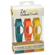Cinturini Per Zecircle 3 Colori Azzurro Giallo Arancione