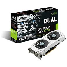 GeForce GTX 1070 8 GB GDDR5 Pci-E DVI Dual Link / HDMI / 3x Display Port Dual OC