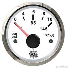 Indicatore pressione olio 0-10 bar bianco / lucida