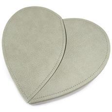 scatole per gioielli 'love' grigio tortora pm - [ l1439]