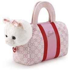 Peluche Trudi Gattino nella borsetta rosa cuori: insieme a spasso