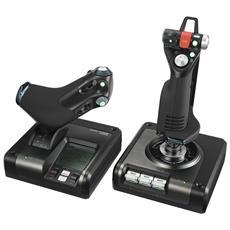 G Saitek X52 Pro Joystick con Sistema di Controllo Volo per PC