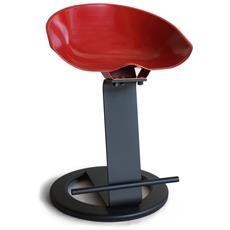 Sgabello Bar In Acciaio Colorato E Di Design H 52 Cm Rosso