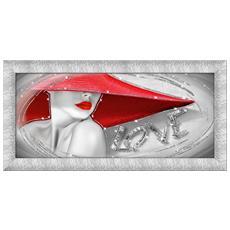 Quadro Su Tela Prince 65x135 Cm Woman In Love Silver