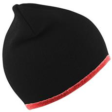 Berretto Reversibile Invernale Uomo (taglia Unica) (nero   rosso) abd355dd1adf