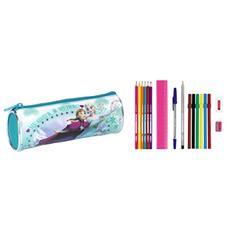 Astuccio Portapenne Scuola Frozen 17 Pezzi Pencil Case Ice Skating 20 Cm