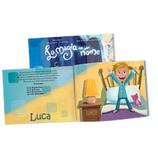 La Magia Del Mio Nome - Libro Personalizzato Per Bambini - Protagonista Bambino Biondo - Contattaci per personalizzare