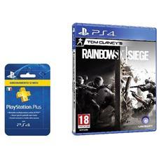 SONY - PlayStation Plus Card Hang Abbonamento 12 Mesi + Rainbow Six Siege Limited Bundle