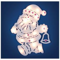 Babbo Natale con 20 Luci Led