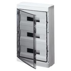 Quadro Di Distribuzione Con Pannelli Finestrati E Telaio Estraibile Predisposto Per Alloggiamento Morsettiere (18x3) 54m Ip65