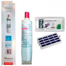 Filtro Acqua Frigo Sbs200 Ex Sbs001 481281728986 + Filtro Antibatterico Microban Ant001 481248048172