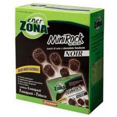 Minirock Noir Confezione Da 5 Minipack Cioccolato Fondente Snack Enerzona