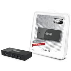 4 Port USB Hub Black