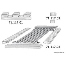 Profilo scalinato teak T032