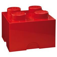 Mattoncino - Contenitore a 4 Bottoncini Colore Rosso
