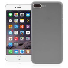 Inv Cover Ultra Sottile 0,2 mm in Morbido TPU per Apple iPhone 7 Plus Colore Nero Trasparente
