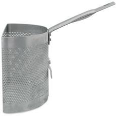 Scaldapasta Alluminio Con Gancio Per Cuoci Pasta Con 2 Spicchi - Diametro Cm 28 - Altezza Cm 20