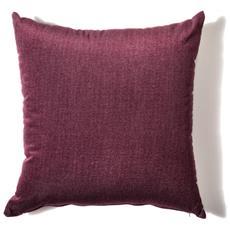 Cuscino Da Arredamento 45x45 In Velluto Melange' Colore Bordeaux