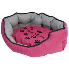 Cuccia Imbottita, comoda Per Cani Misure: 60x50xh21 Cm. Colore Fuchsia