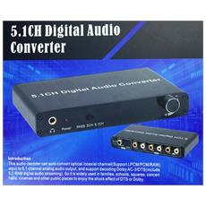 Convertitore 5.1 Ch Digital Audio - Da Audio Optical / coaxiale A 5.1 Audio Analogico