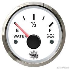 Indicatore livello acqua 240/33 Ohm bianco / lucida
